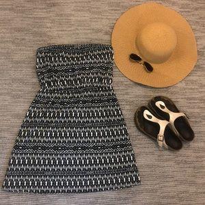 Mossimo strapless print dress